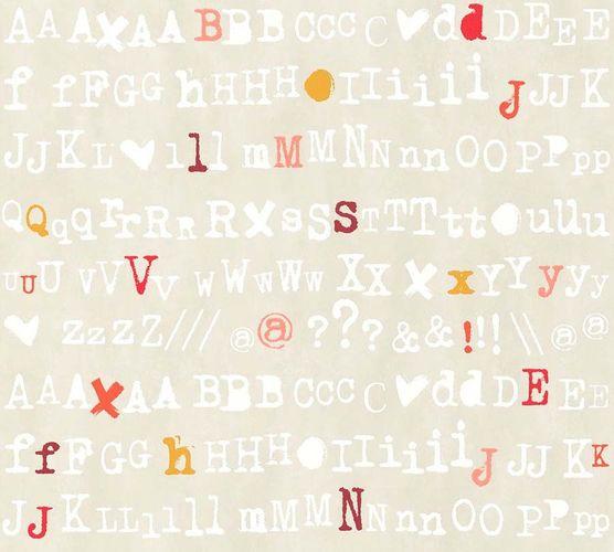Vlies Tapete Schrift Design Beige Rot Livingwalls 36298 4