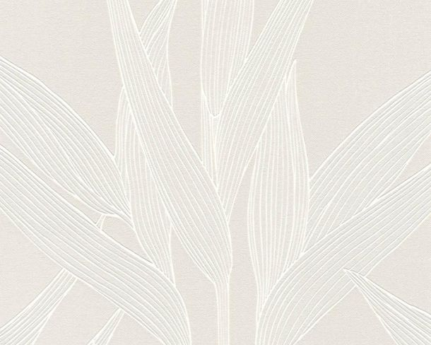 Wallpaper Non-Woven Leaves beige-grey livingwalls 36123-2 online kaufen