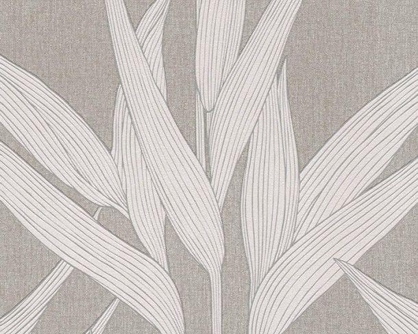 Vlies Tapete Blätter dunkelgrau Hygge livingwalls 36123-3 online kaufen
