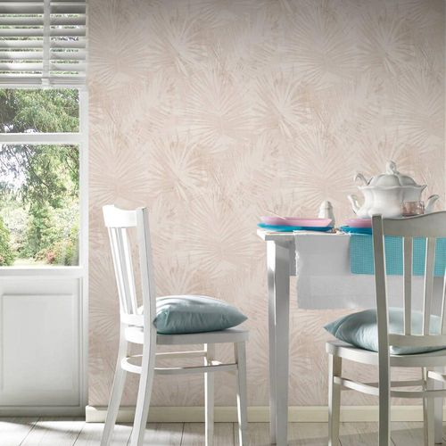 Vlies Tapete Palmenblatt beige Hygge livingwalls 36385-2 online kaufen