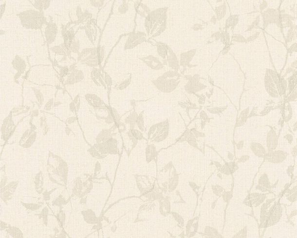 Vlies Tapete Blätter baungrau Hygge livingwalls 36397-4