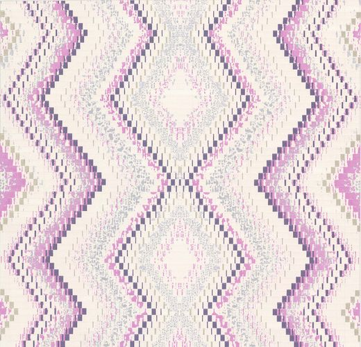 Guido Maria Kretschmer Wallpaper rhomb cream purple 02545-10 online kaufen