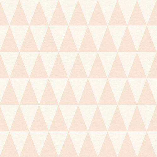 Tapete Vlies Dreiecke apricot World Wide Walls 148670 online kaufen