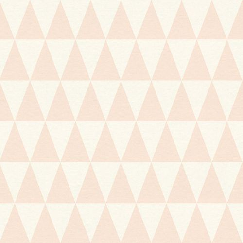 Tapete Vlies Dreiecke apricot World Wide Walls 148670