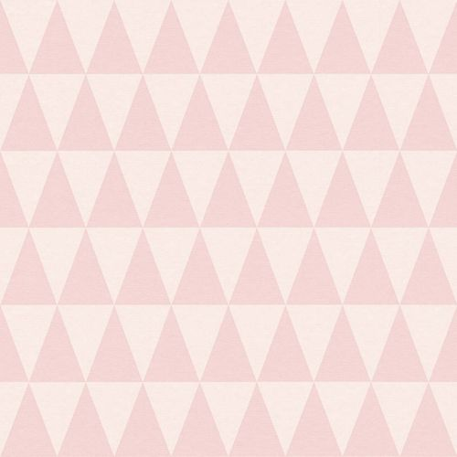 Wallpaper Non-Woven Triangle Pattern pink 148671 online kaufen