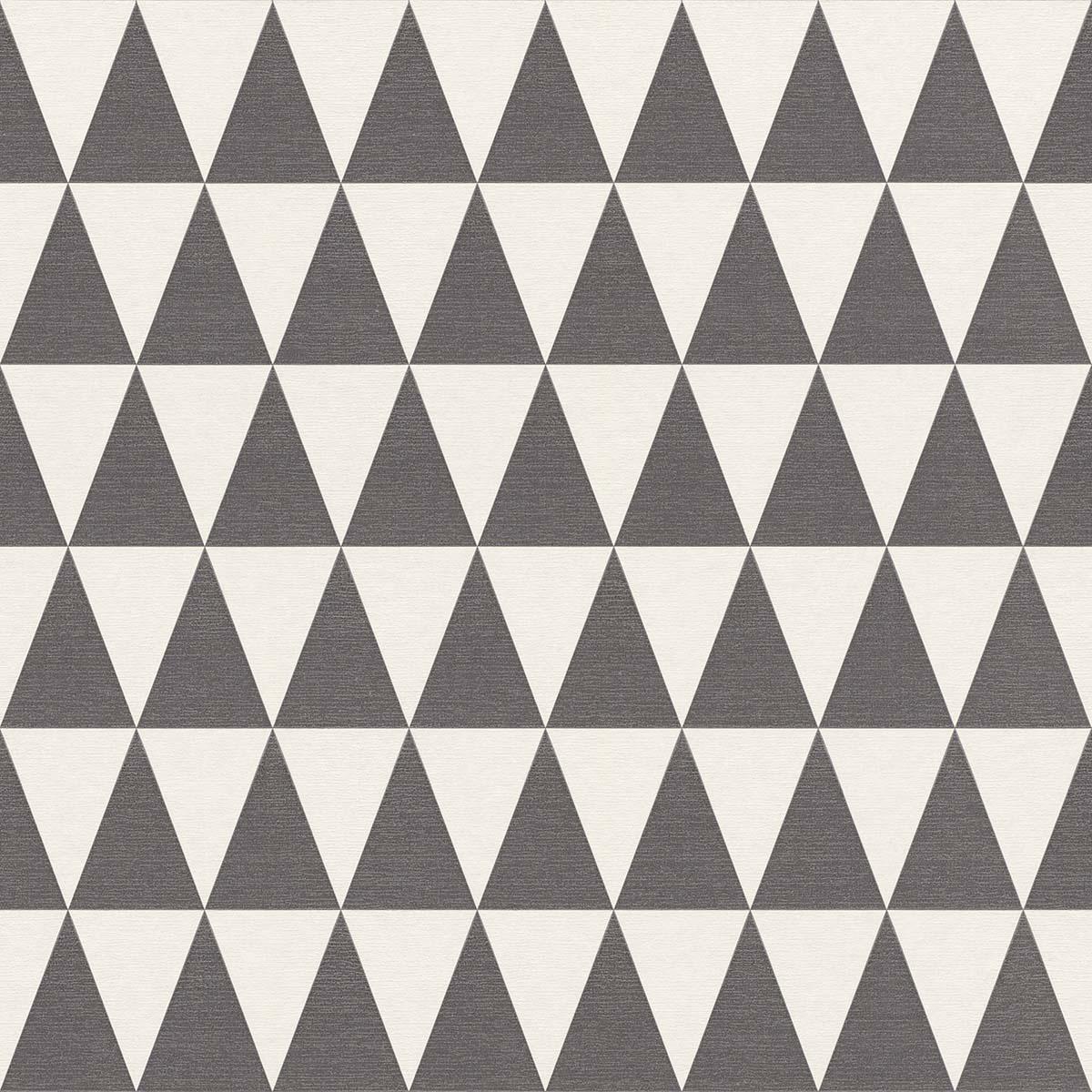 Tapete Vlies Dreiecke Schwarz Weiß Rasch Textil 148672