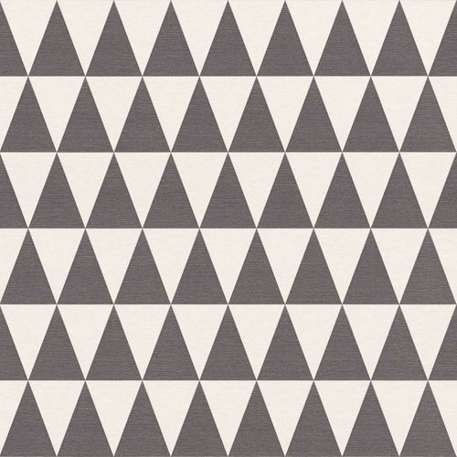 Wallpaper Non-Woven Triangle black white 148672 online kaufen