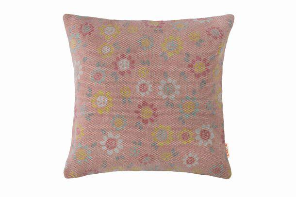 Kissenhülle Deko Cozz Blumen Chiffa rose 45x45cm 5060-19 online kaufen