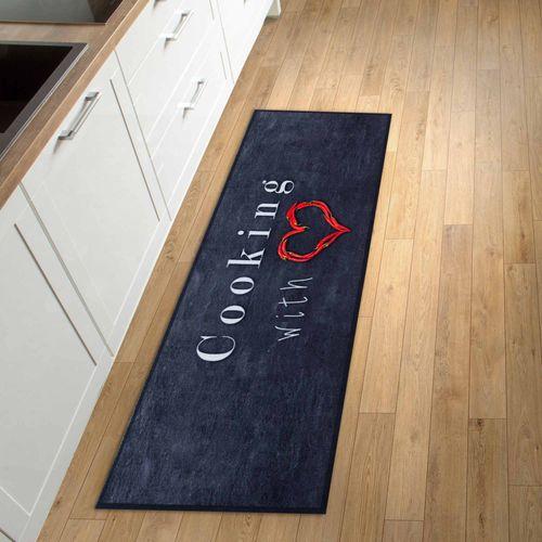 Kitchen Carpet Rug Runner Mat Cooking with Love | non-slip online kaufen