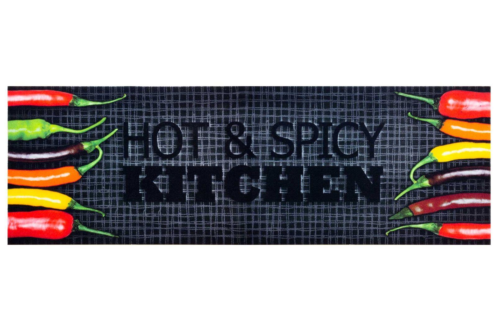 Kitchen Carpet Rug Runner Mat Hot & Spicy Chilli   non slip