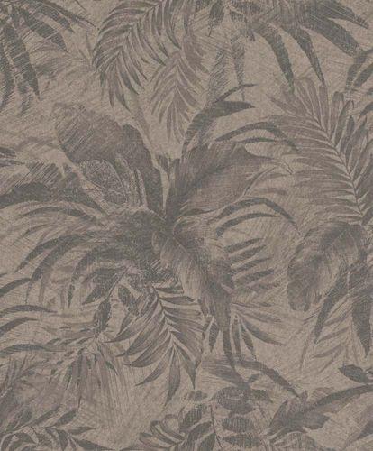 Tapete Vlies Blätter taupe braun Glitzer Rasch Textil 229096