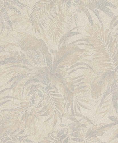 Tapete Vlies Blätter beige grau Glitzer Rasch Textil 229164 online kaufen