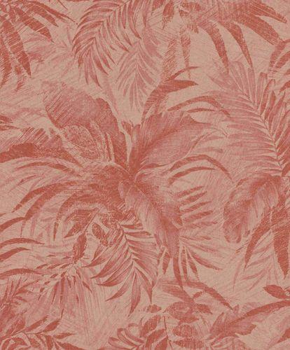 Tapete Vlies Blätter rosa rot Glitzer Rasch Textil 229171