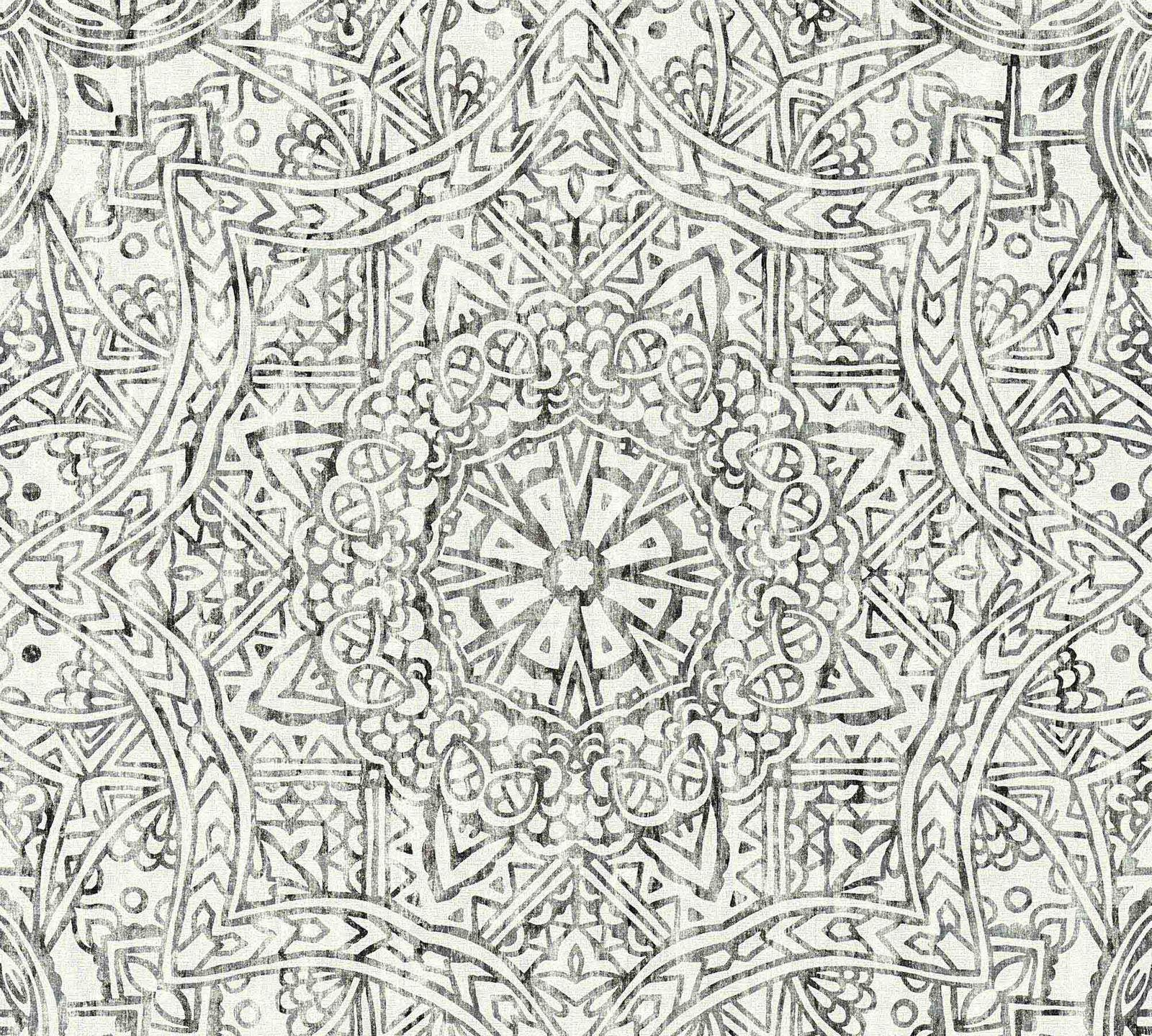Vlies Tapete Mandala Boho Schwarz Weiss As Creation 36461 3