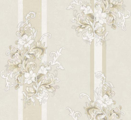 Vliestapete Floral creme beige Metallic 104921