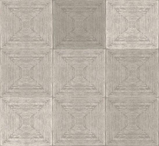 Vliestapete Kachel Holz beige Metallic 107651