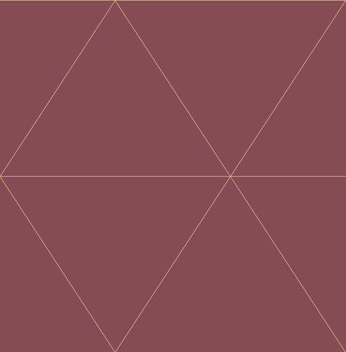 Wallpaper non-woven Hexagon red gloss 024226 online kaufen
