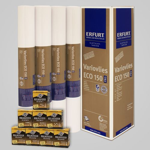 8x Lining Paper Erfurt EcoVlies EV150 | Wallpaper Paste