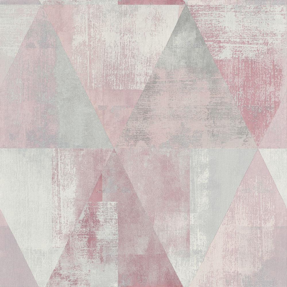 Vlies Tapete Used Dreiecke Rosa Grau Rasch 410938