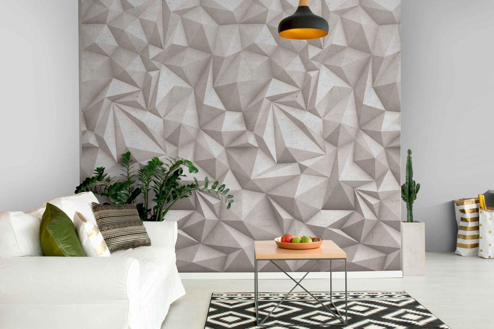 digitaldruck vlies fototapete 3d beton optik a35001. Black Bedroom Furniture Sets. Home Design Ideas