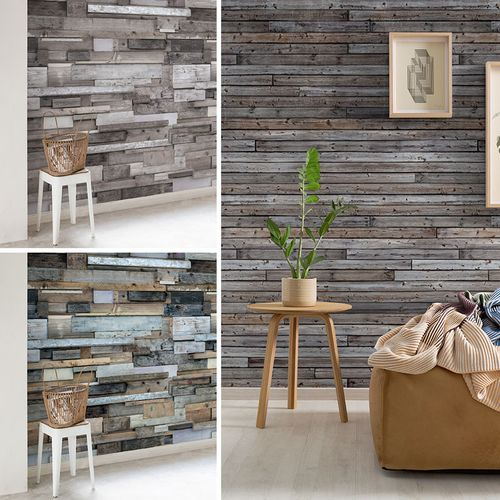 Digital Print Photo Wallpaper wooden design | 3 Styles