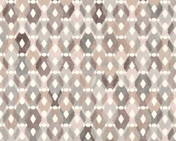 Non-Woven Wallpaper Square-Design brown grey 36288-3