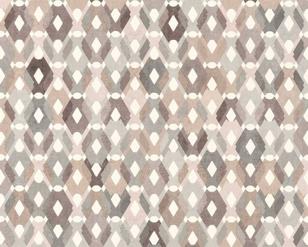 Non-Woven Wallpaper Square-Design brown grey 36288-3 online kaufen