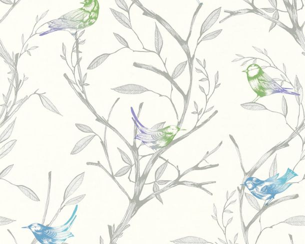 Non-Woven Wallpaper Bird blue green livingwalls 36623-1 online kaufen