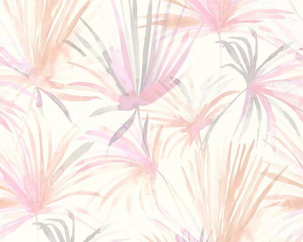 Vlies-Tapete Palmen Natur pink weiß livingwalls 36624-1 online kaufen