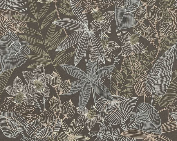 Vlies-Tapete Pflanzen Natur schwarz livingwalls 36630-3 online kaufen