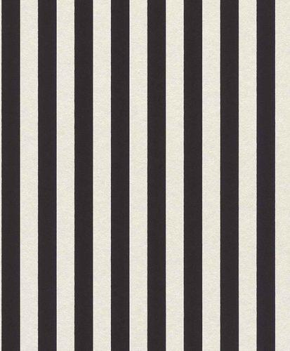 Tapete Vlies Gestreift Glitzer schwarz weiß 361819 online kaufen