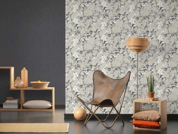 Michalsky Tapete Vlies Blüten Floral taupe grau 36498-3 online kaufen