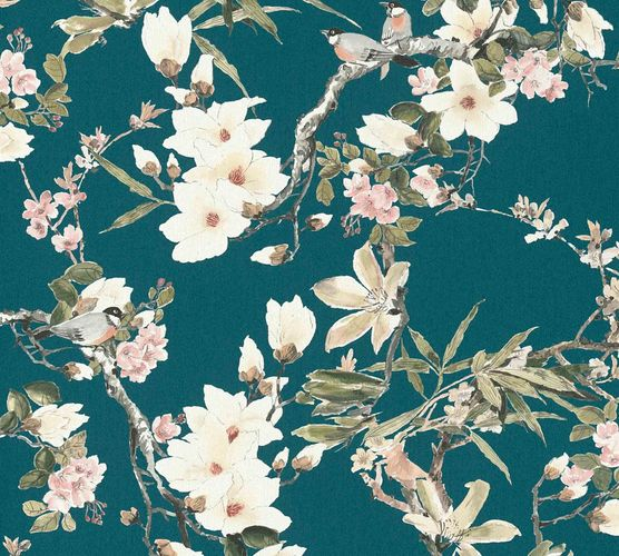 Michalsky Design Wallpaper blossom green pink 36498-4 online kaufen