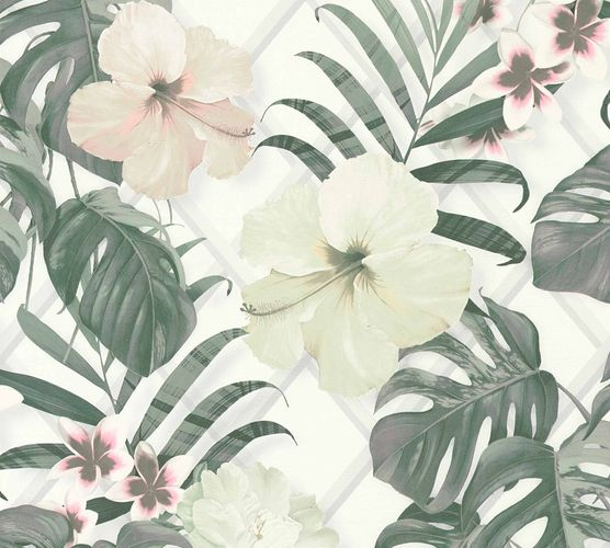 Michalsky Design Wallpaper flowers white mint 36518-2 online kaufen