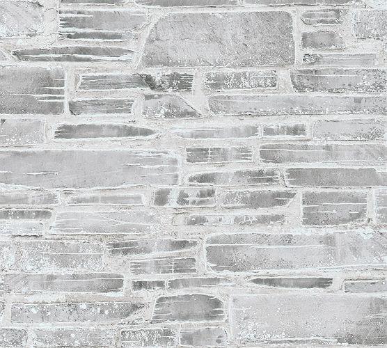 Tapete Steine Used Look grau weiß 36459-2 online kaufen