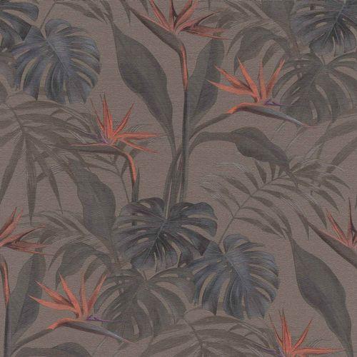 Rasch Vliestapete Tropisch Blätter braun grau 529043 online kaufen