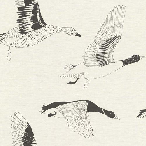 Tapete Vlies Enten Vögel schwarz weiß Onszelf 530704 online kaufen