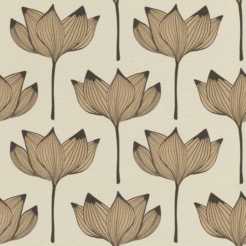 Tapete Vlies Blüten Floral braun gold Onszelf 530919 online kaufen