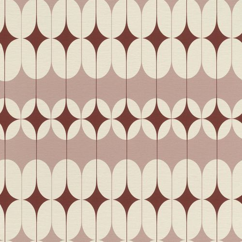 Tapete Vlies Retro-Design rosa rot Onszelf 531138