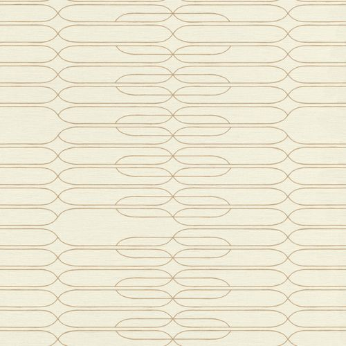Tapete Vlies Retro Linien gold creme Onszelf 531237