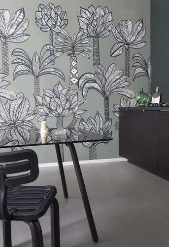 Photo Wallpaper Palm Trees grey white 532050 online kaufen