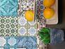 Produktbild Tapete Vlies Orientalische Fliesen grün türkis Lutèce 36485-1 3