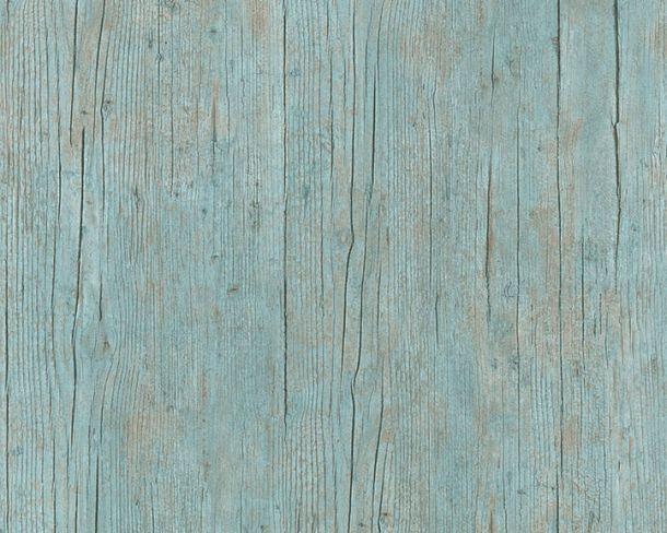 Tapete Vlies Holzbalken Textur türkis braun 36487-1