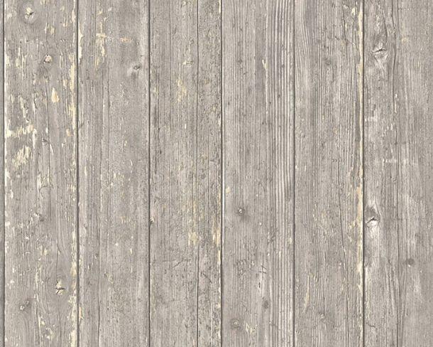 Tapete Vlies Holzpaneele Used Look braun beige 36573-1