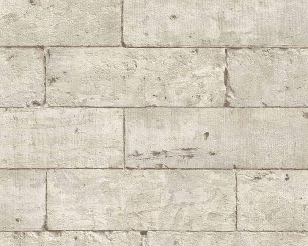 Tapete Vlies Steinblöcke Mauer hellgrau beige 36620-1 online kaufen