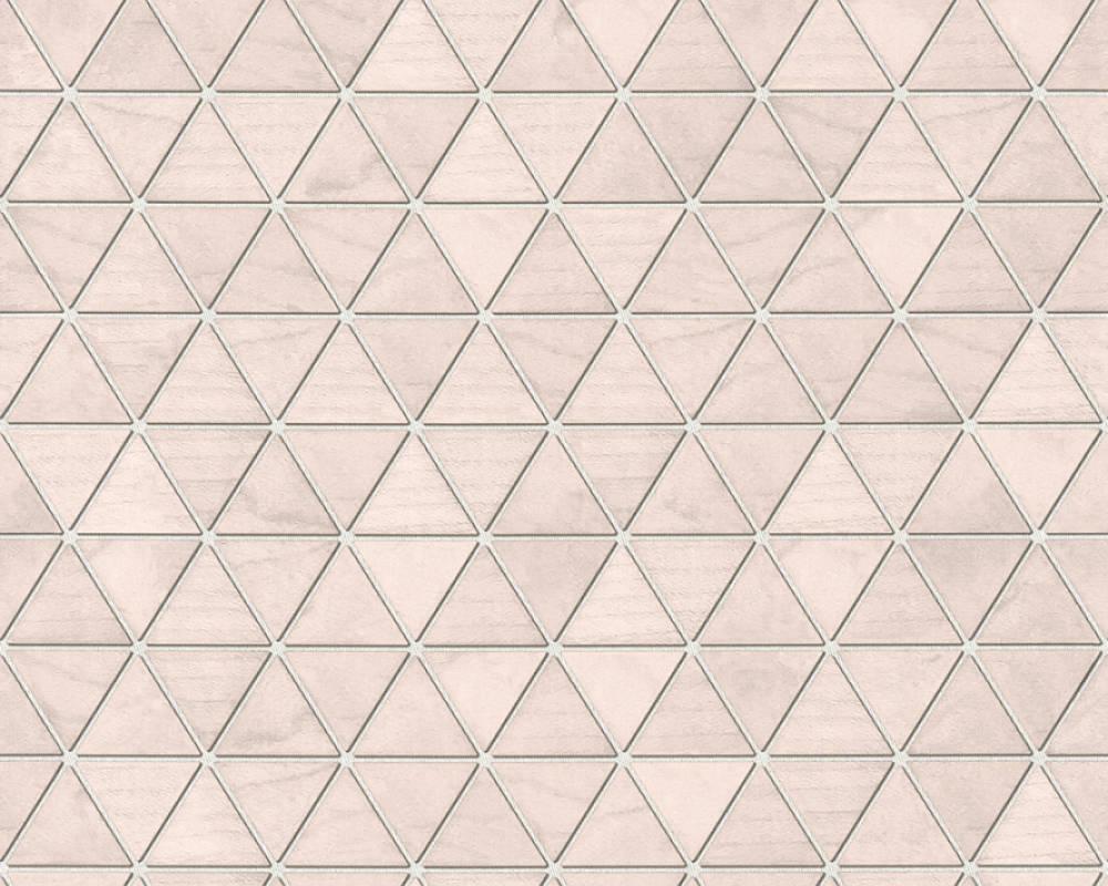 tapete vlies mosaik kacheln rosa grau 36622 1. Black Bedroom Furniture Sets. Home Design Ideas