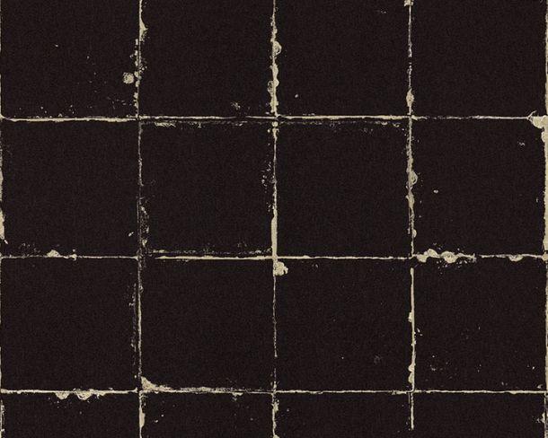Tapete Vlies Kachel-Optik schwarz beige 36664-1 online kaufen