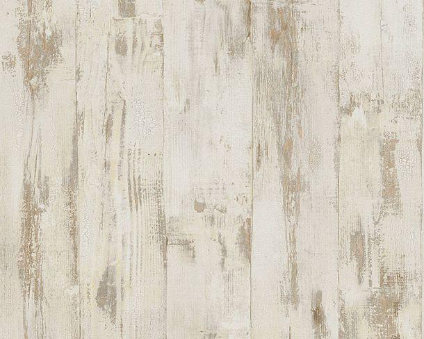 Tapete Vlies Holzwand Used Look braun beige 96139-1