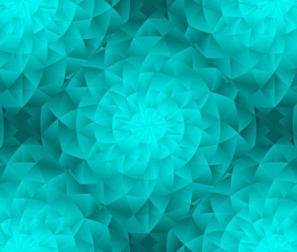 Premium Fototapete Kaleidoskop 3D türkis Vlies 200g/m² online kaufen