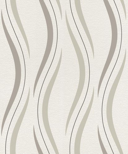 Non woven wallpaper wave white brown Rasch 476521 online kaufen